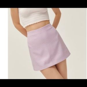 urban outfitters purple plaid skirt